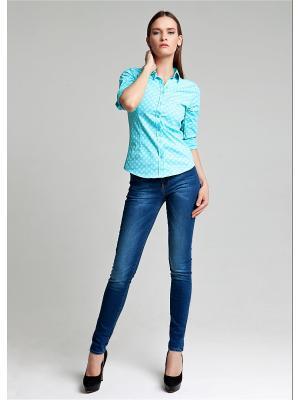 Блуза MOSKO. Цвет: бирюзовый