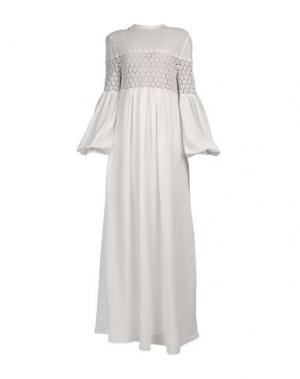Длинное платье VERONIQUE BRANQUINHO. Цвет: слоновая кость