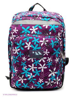 Рюкзак Polar. Цвет: фиолетовый, белый, бирюзовый