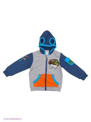 Куртка Kidly. Цвет: серый, оранжевый, синий