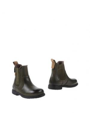 Полусапоги и высокие ботинки BISGAARD. Цвет: зеленый-милитари