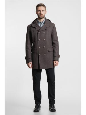 Пальто Gotti. Цвет: коричневый