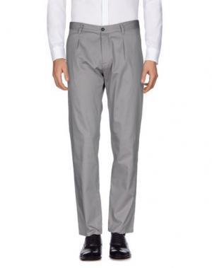 Повседневные брюки OFFICINA 36. Цвет: голубиный серый