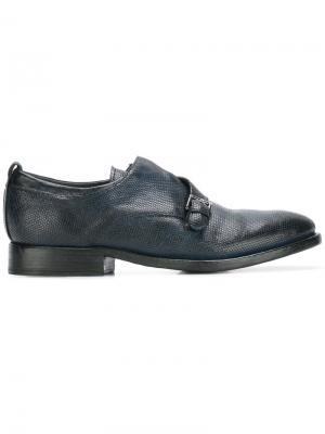 Туфли-монки с ремешком на пряжке Sartori Gold. Цвет: синий