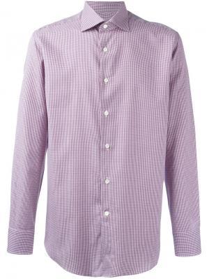 Рубашка с узором Canali. Цвет: красный
