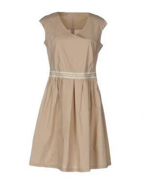 Короткое платье 19.70 NINETEEN SEVENTY. Цвет: бежевый