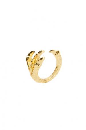 Золотистое кольцо Pamela Love. Цвет: золотой
