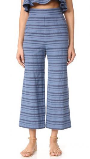 Укороченные брюки с высокой посадкой Mara Hoffman. Цвет: деним мульти