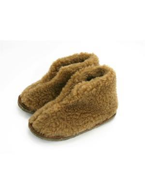 Туфли комнатные - чуни Тефия. Цвет: коричневый, темно-бежевый