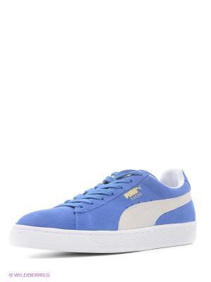 Кроссовки Suede Classic+ Puma. Цвет: синий