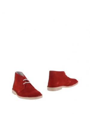 Полусапоги и высокие ботинки WALLY WALKER. Цвет: кирпично-красный
