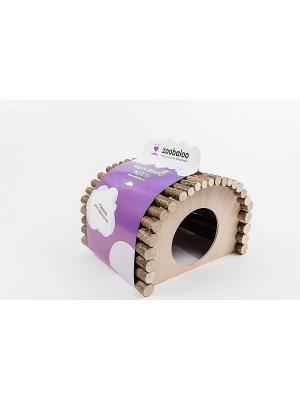 Домик для морской свинки Zoobaloo. Цвет: коричневый