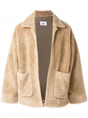 Куртка из овчины Doublet. Цвет: телесный