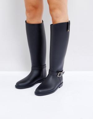ASOS Резиновые сапоги в жокейском стиле GRANGE. Цвет: черный