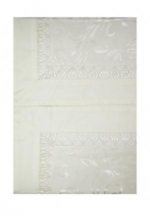 Комплект постельного белья Семейный Asabella. Цвет: белый
