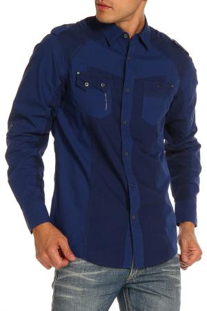 Рубашка DISSIDENT. Цвет: синий