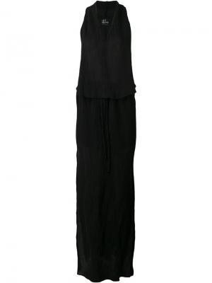 Длинное платье с глубоким V-образным вырезом Lost & Found Ria Dunn. Цвет: чёрный