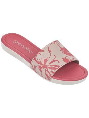 Пантолеты Grendha. Цвет: коралловый,серый