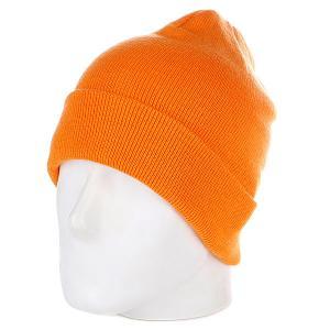 Шапка  Flap Beanie Orange Urban Classics. Цвет: оранжевый