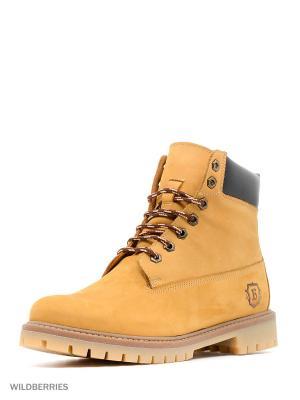 Ботинки BEKERANDMILLER. Цвет: желтый