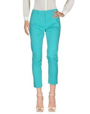 Повседневные брюки ROSSOPURO. Цвет: бирюзовый