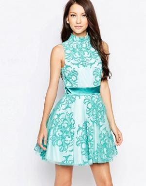 Key Collections Приталенное платье Ashley Roberts специально для. Цвет: синий