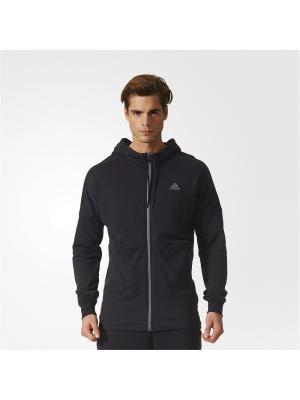 Толстовка ID ELONGATED FZ  BLACK Adidas. Цвет: черный