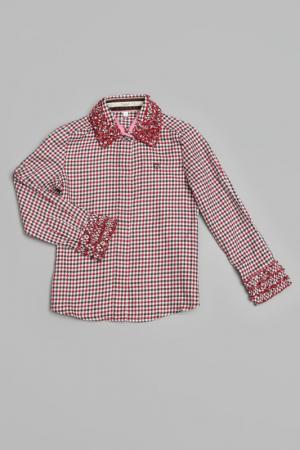 Блузка Trasluz. Цвет: красный
