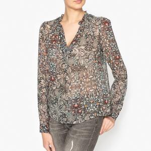 Блузка с рисунком IKKS. Цвет: хаки