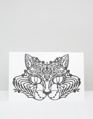 Facelace Украшение для лица Face Lace Basset Cat. Цвет: черный