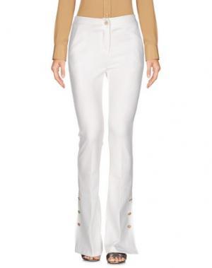Повседневные брюки PAOLO CASALINI. Цвет: белый