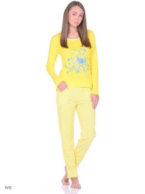 Домашний костюм SALHAM. Цвет: желтый