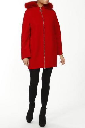 Пальто World Style. Цвет: красный