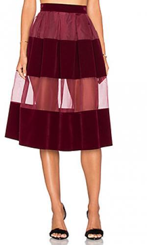 Юбка-шорты rosie VIVIAN CHAN. Цвет: вишня
