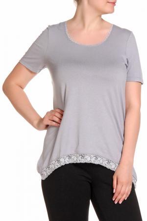 Блуза RITA PFEFFINGER. Цвет: серебряный