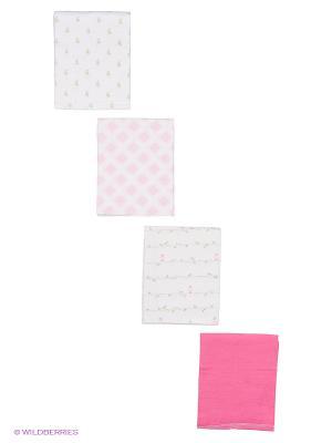 Комплект Пелёнки Luvable Friends. Цвет: розовый