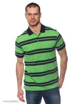 Футболка-поло Trespass. Цвет: светло-зеленый, темно-синий