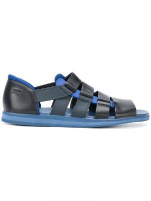 Strappy panelled sandals Camper. Цвет: чёрный