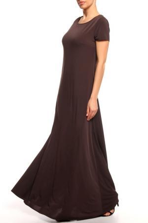 Платье макси Alina Assi. Цвет: коричневый