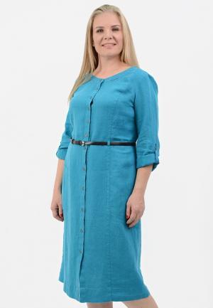 Платье Lino Russo. Цвет: бирюзовый