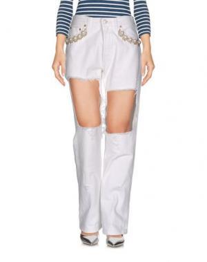 Джинсовые брюки FORTE COUTURE. Цвет: белый