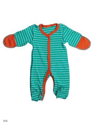 Комбинезоны Babycollection. Цвет: зеленый, оранжевый