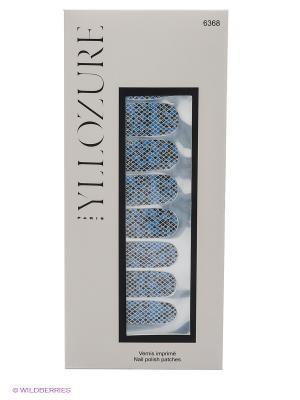 Лаковый стикер для ногтей Гламур, тон 68 ИЛЛОЗУР. Цвет: синий, черный