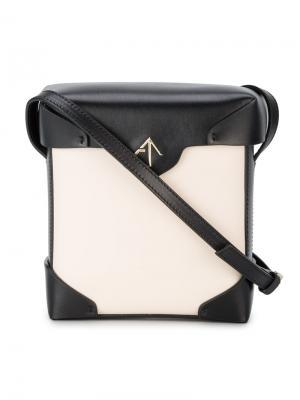 Мини-сумка через плечо Pristine Manu Atelier. Цвет: телесный