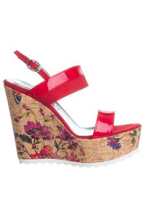 High heels sandals NILA. Цвет: red