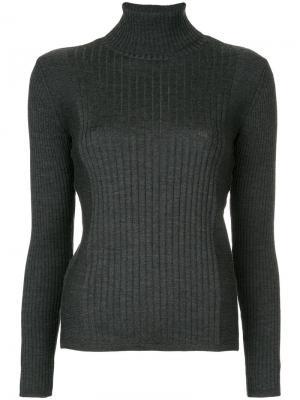 Пуловер-водолазка в рубчик Astraet. Цвет: серый