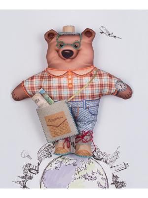 Набор для шитья и вышивания текстильная игрушка Михаил Потапыч турист Матренин Посад. Цвет: коричневый, бежевый