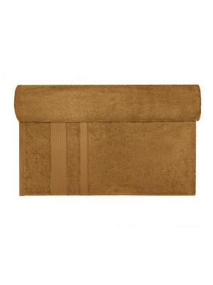 Махровое полотенце коричневый 40*70-100% хлопок, УзТ-ПМ-111-08-20 Aisha. Цвет: коричневый