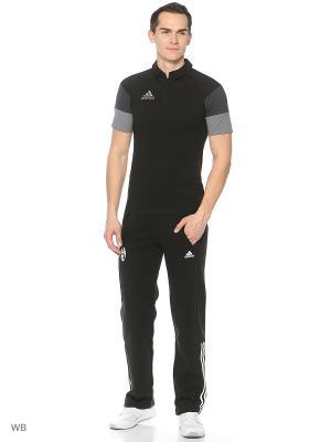 Поло муж. CON16 CO POLO  BLACK/DKGREY/VISGRE Adidas. Цвет: черный
