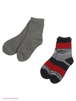Носки трикотажные для мальчиков, 2 пары в комплекте PlayToday. Цвет: оранжевый, серый